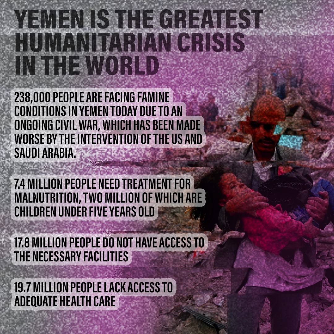 Yemen is the Greatest Humanitarian Crisis in the World.