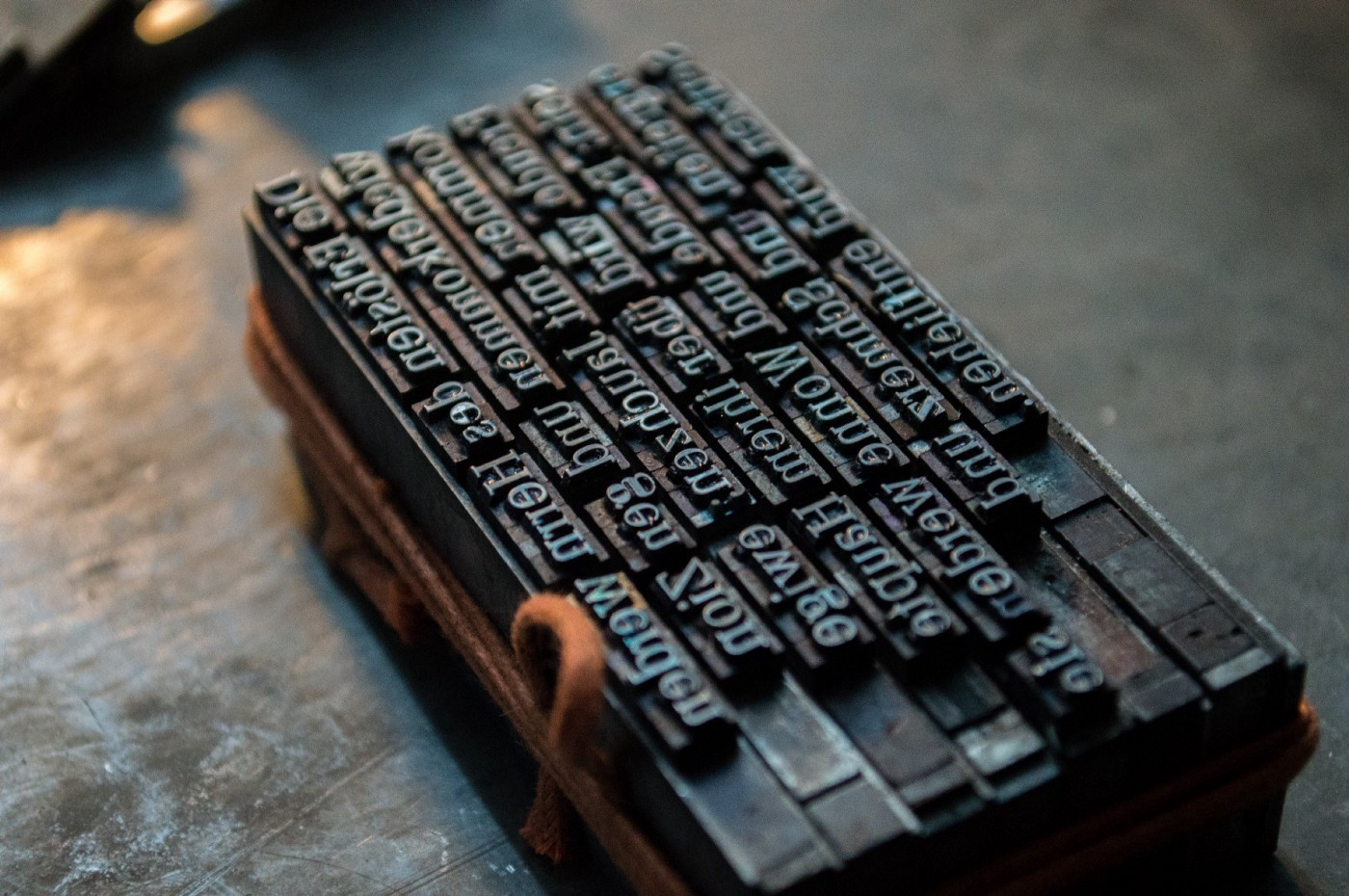 Typography in traditional printing