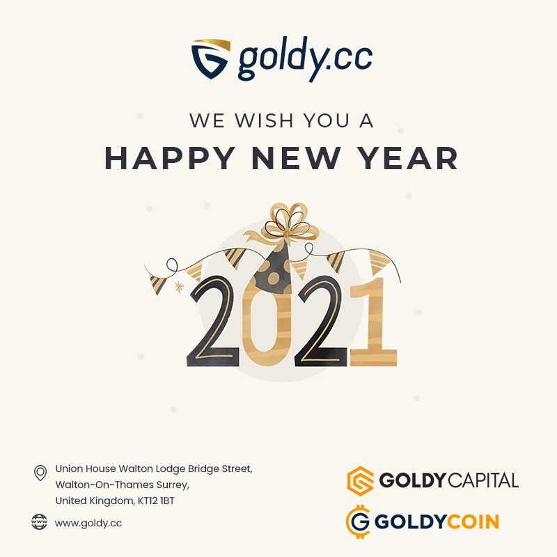 Goldy Capital Wishes you a Happy New Year 2021
