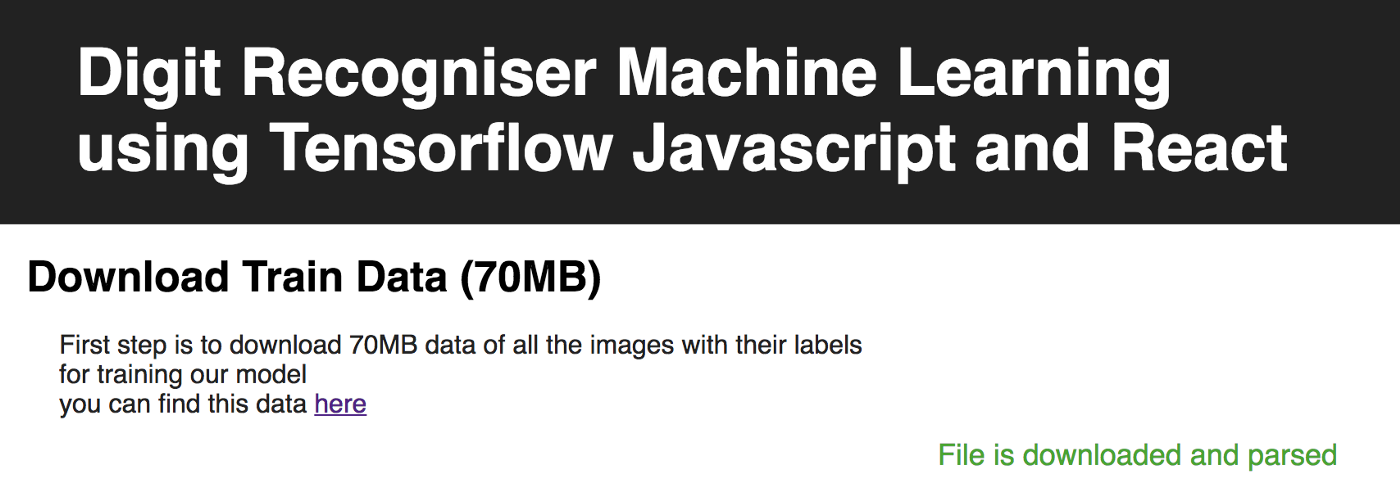 Digit Recogniser Machine Learning Tensorflow Javascript And React