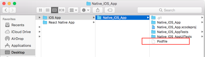 Integrating React Native features in an existing iOS native app