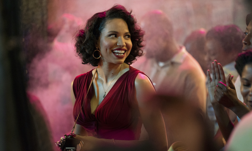 """Photo of Jurnee Smollett on set for """"Lovecraft Country."""""""