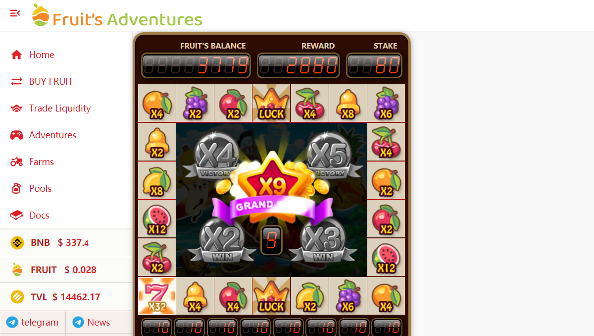 Try out FRUIT slots with up to 288x payback $$$ Play now: https://fruitsadventures.com