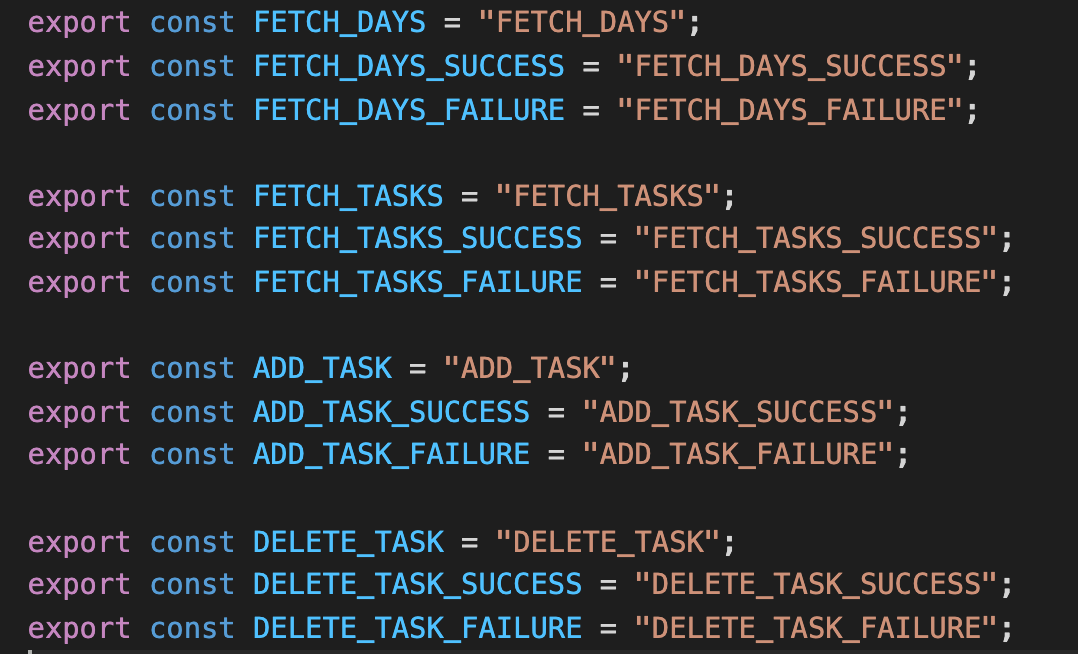 file that exports action strings as constants