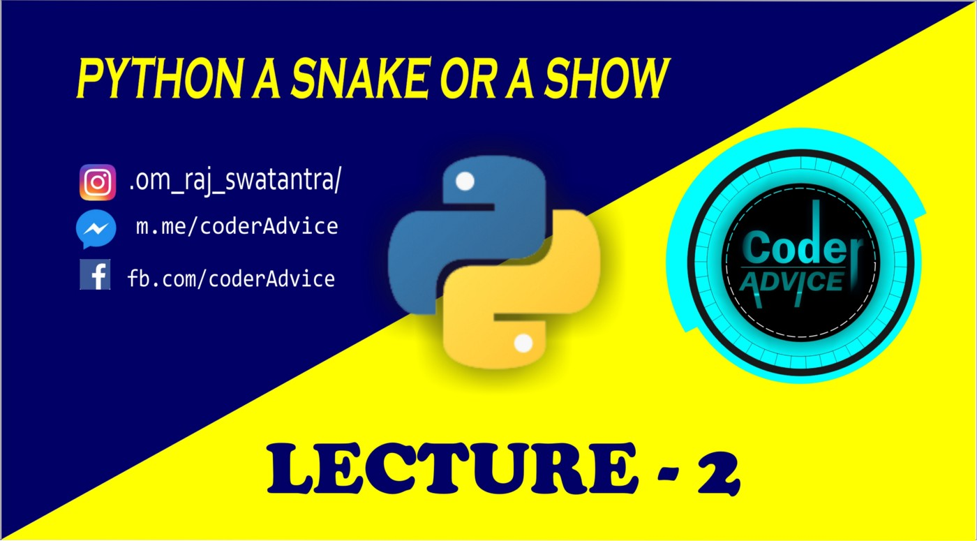 PYTHON LECTURE-2