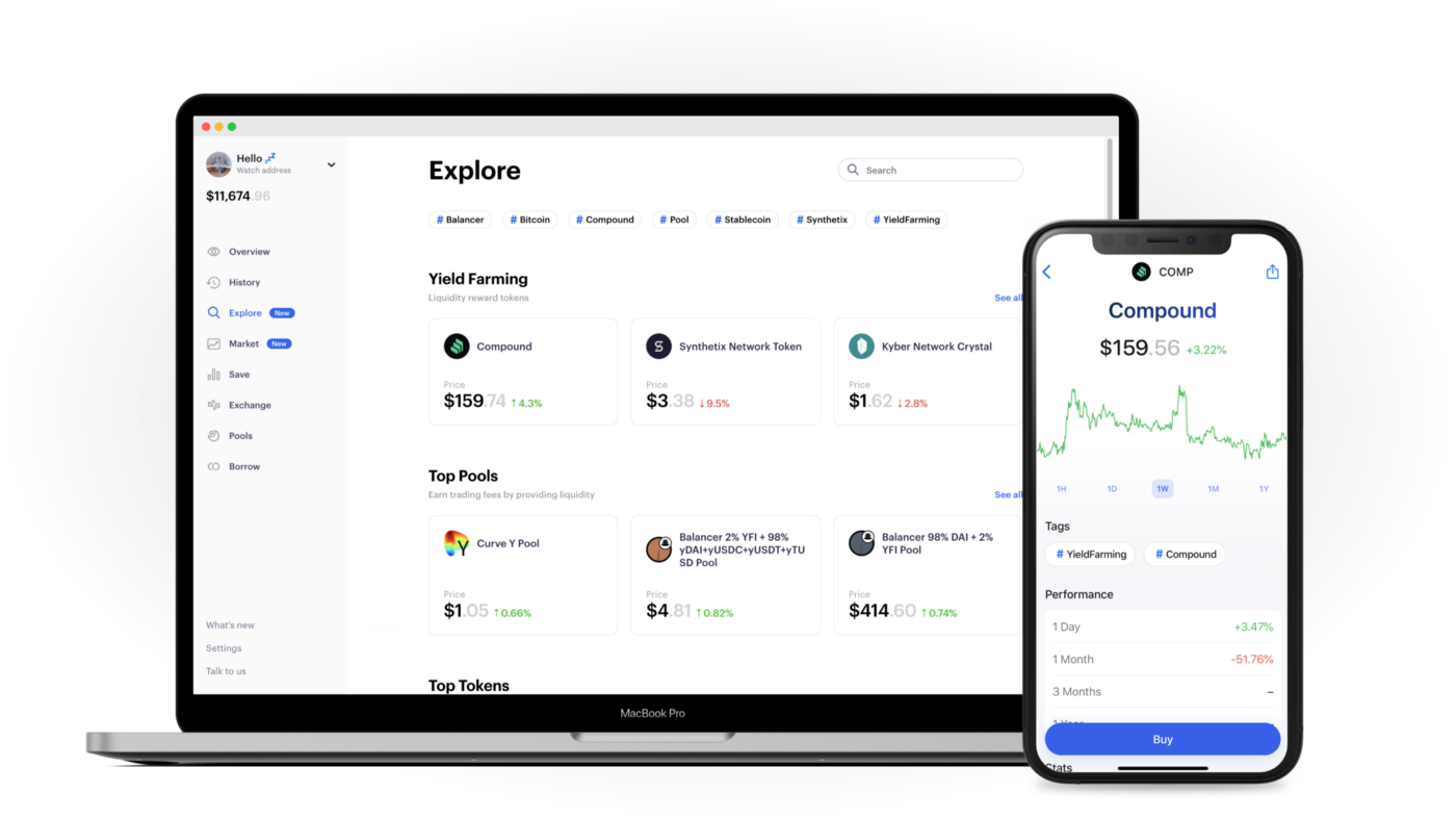 Explore DeFi assets with Zerion