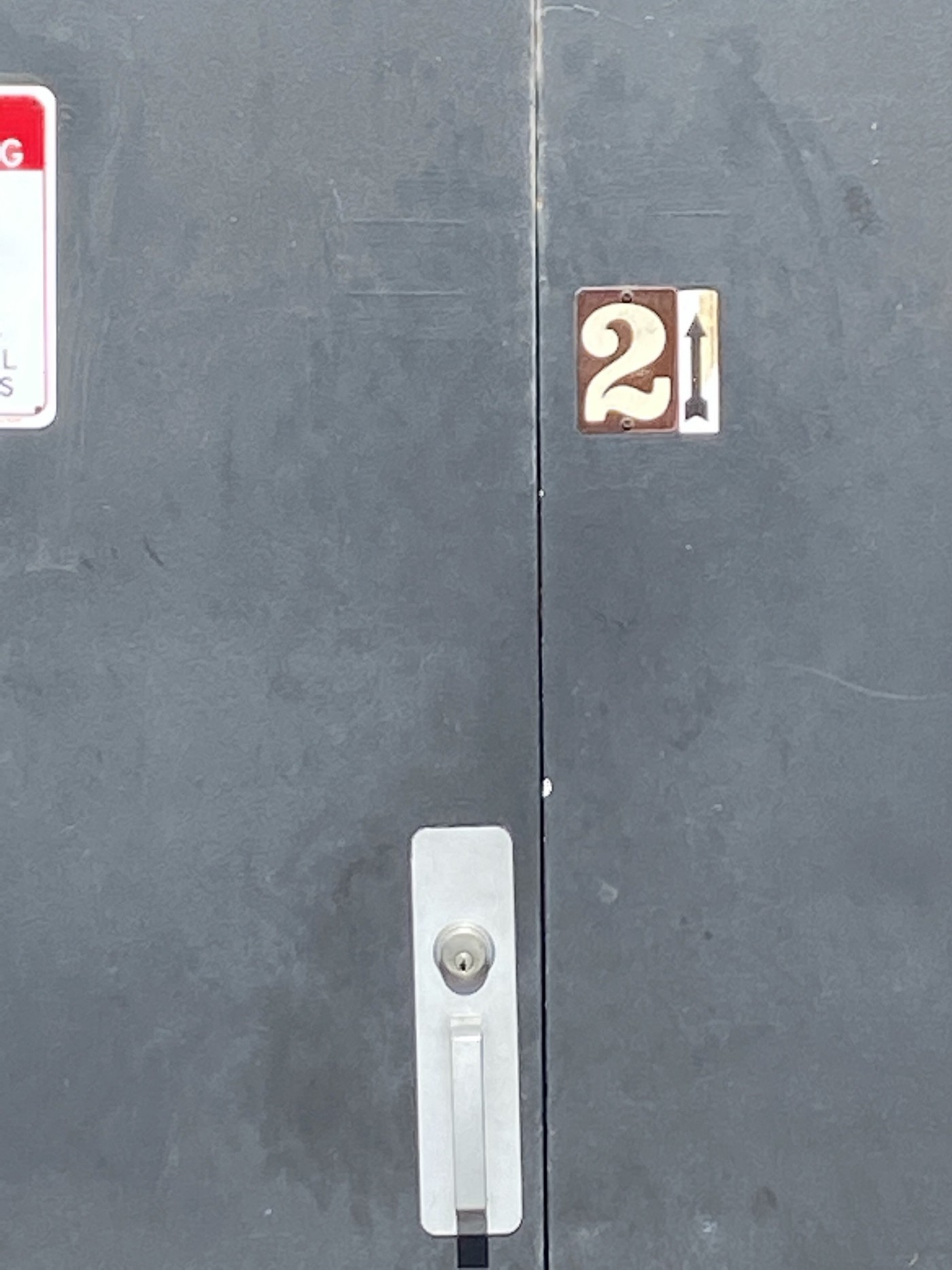 image of a door with the number 21 on it