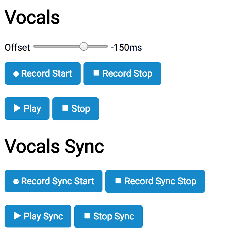 Recording, syncing and exporting web audio - Creative Technology