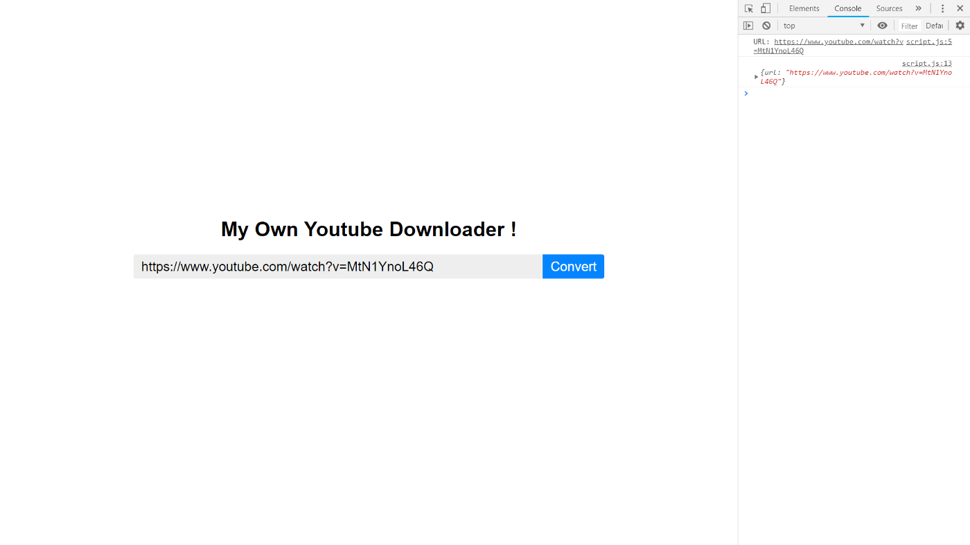 How I made my own YouTube Downloader using JavaScript and Node js