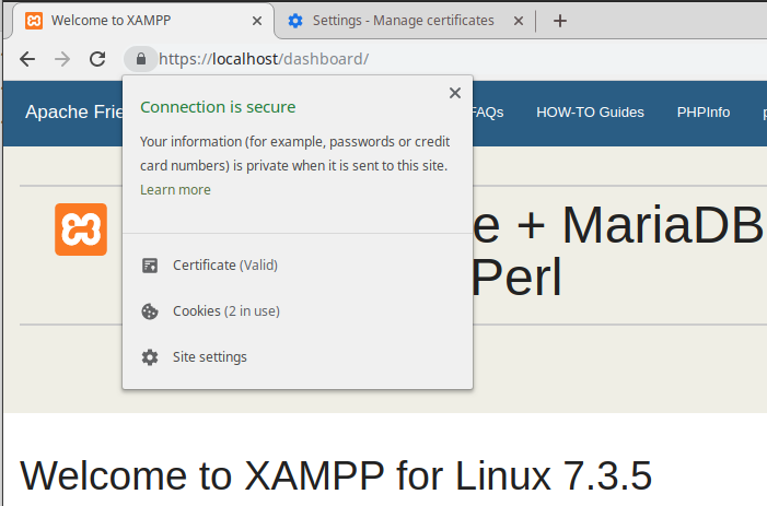 Using XAMPP and SSL (https) on localhost (in four simple steps)