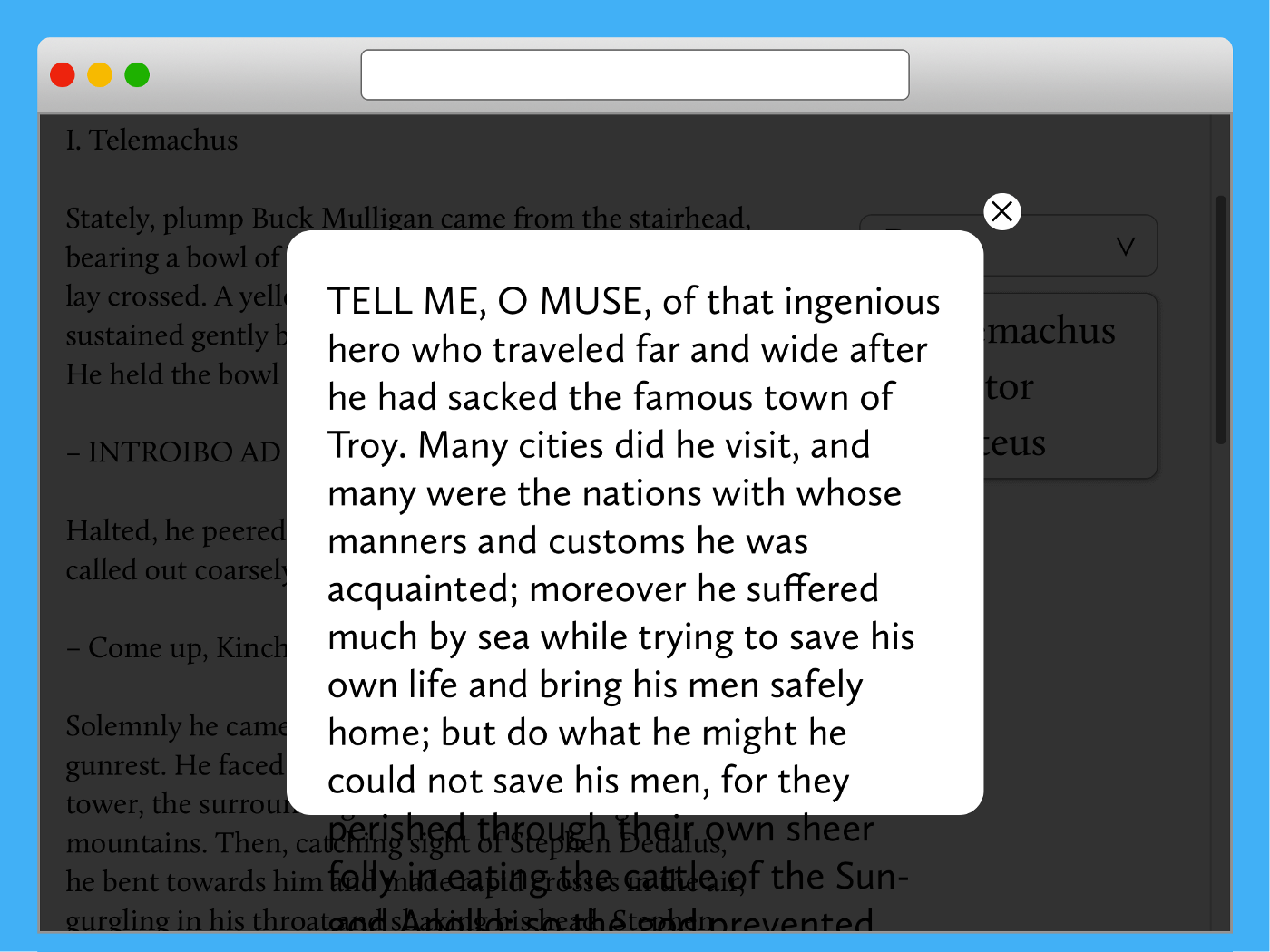 4. Text falls out the pop-up area