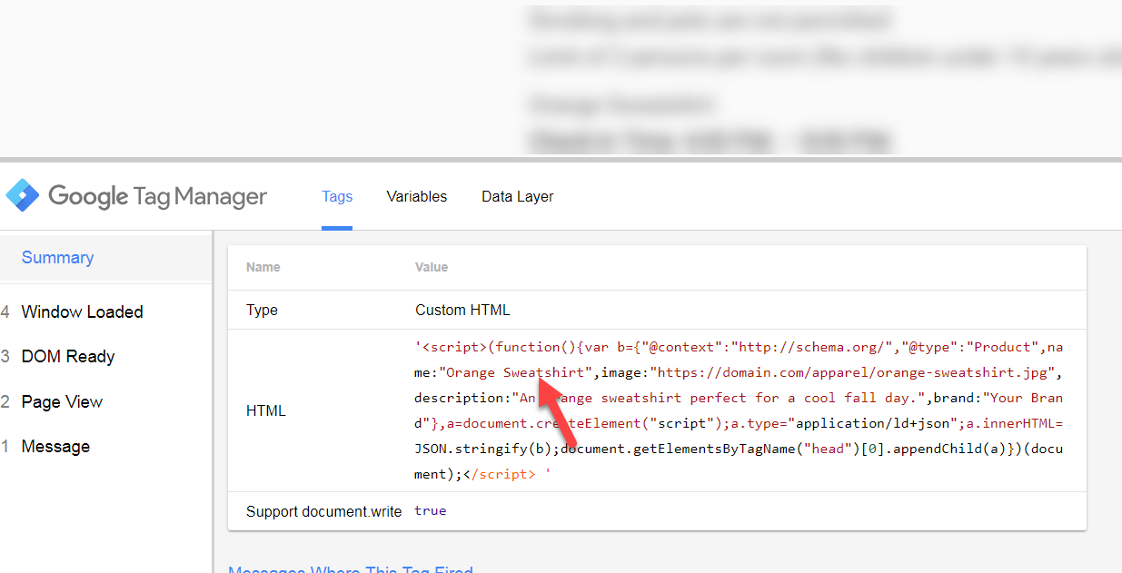 Using Google Tag Manager Variables to Dynamically Inject Structured Data