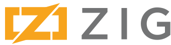 Zig programming language logo and wordmark