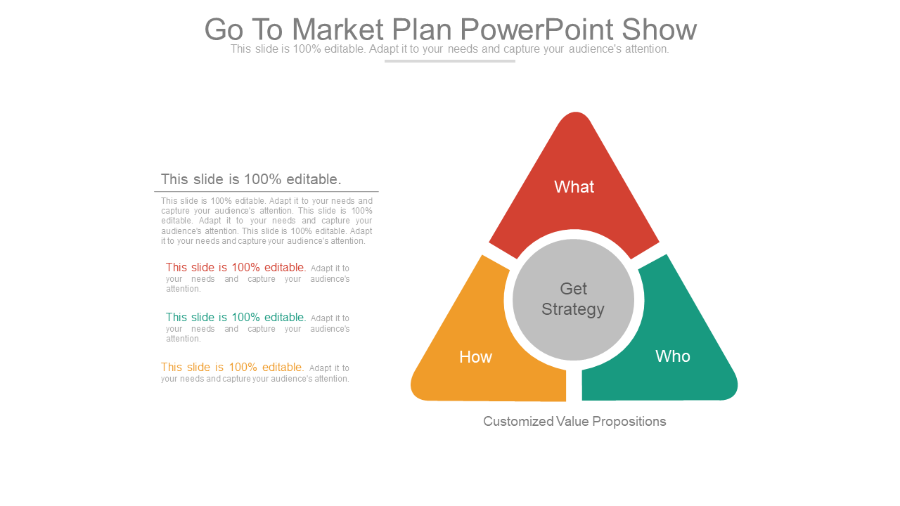 Go to Market Plan PPT Template Visual