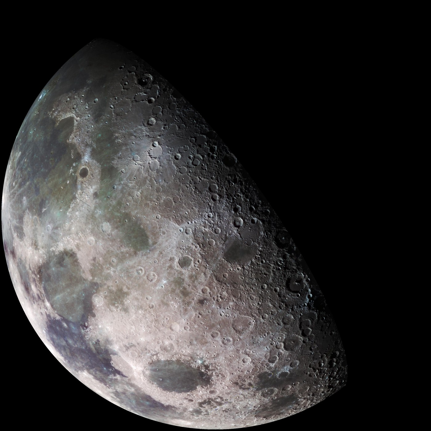 A photograph of the moon from NASA.