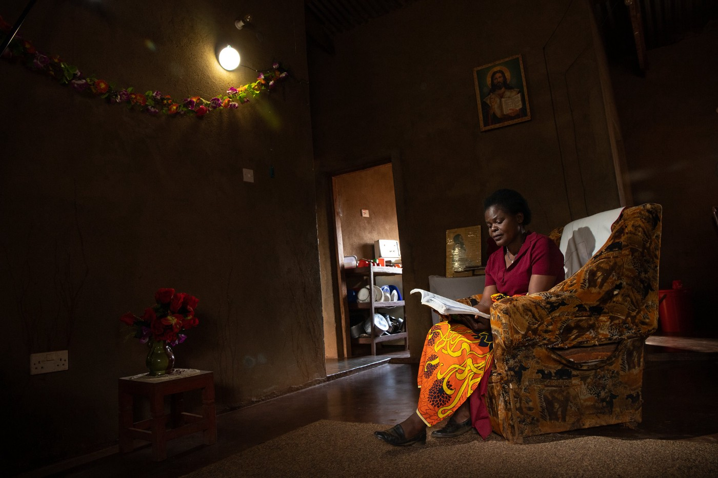 Solar home systems bring light to households at night.
