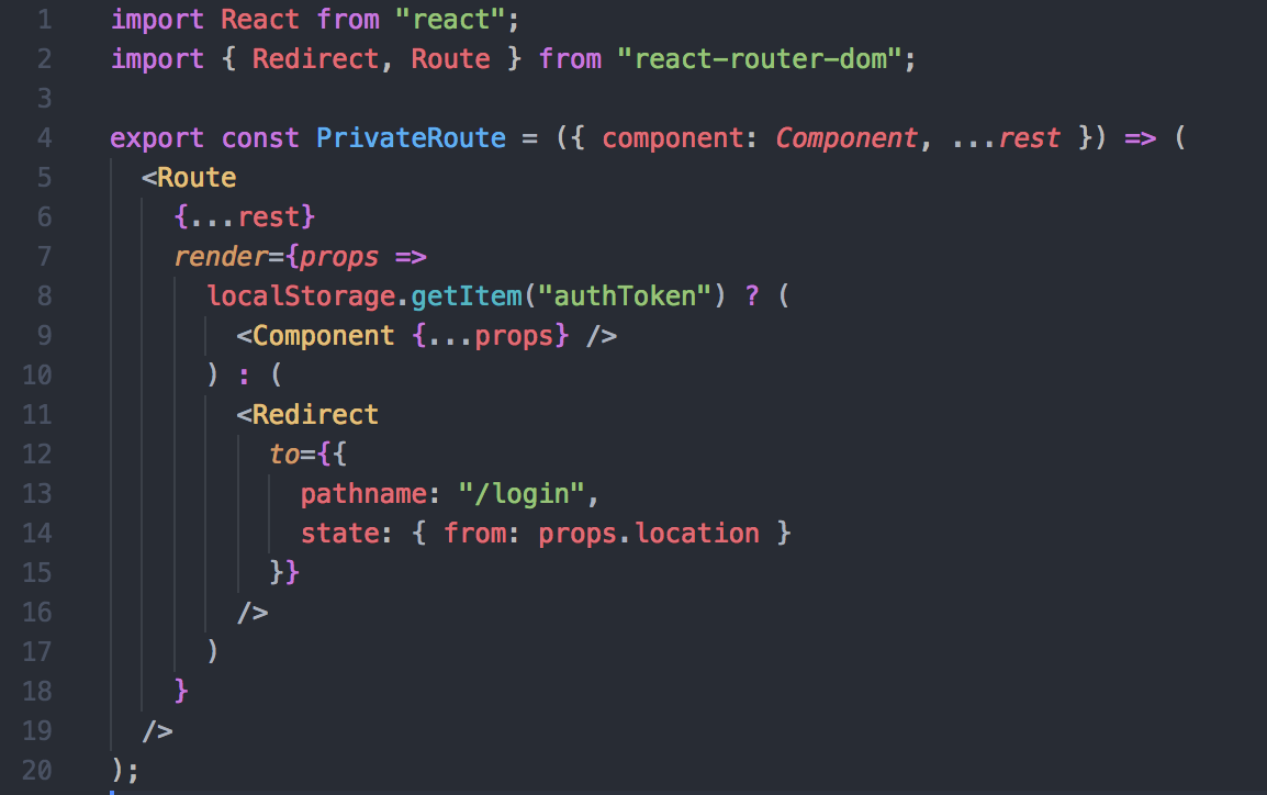 Private routes with React-router-DOM - Thomas Large - Medium