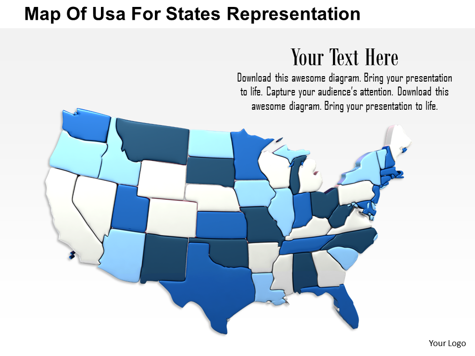 Map Of USA For States Representation Image