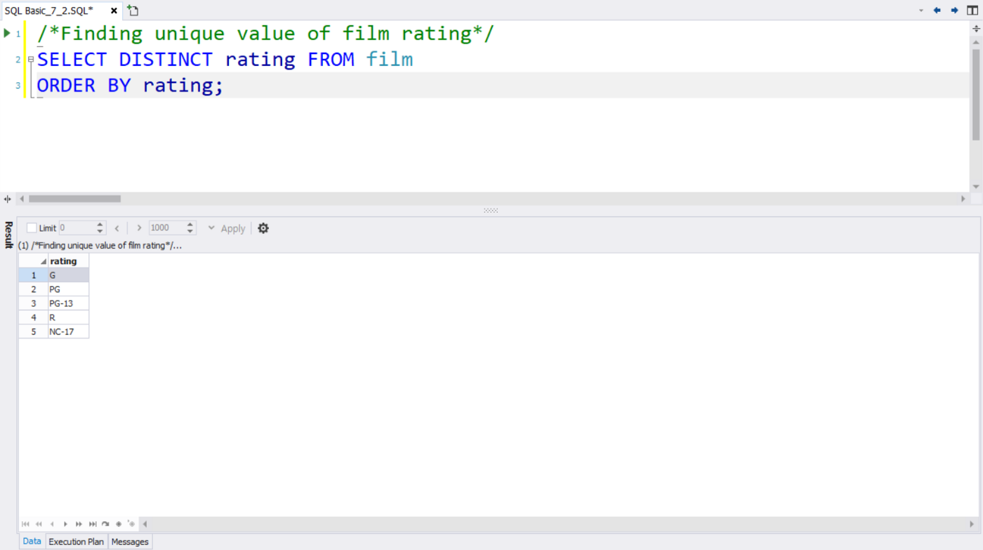 SQL Basic] How to rename Columns and see Unique Values? — SQL AS