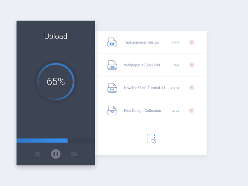 File Upload UI Inspiration - Muzli - Design Inspiration