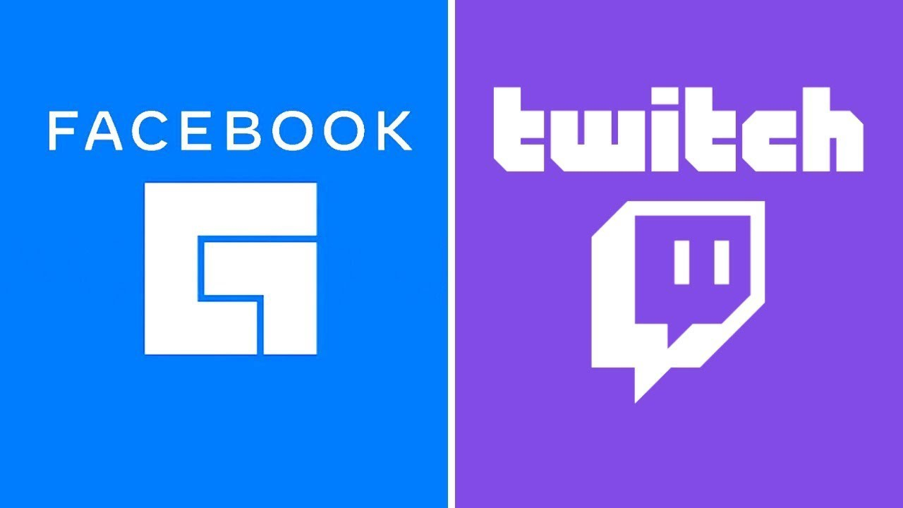 Facebook Gaming and Twitch logos side-by-side.