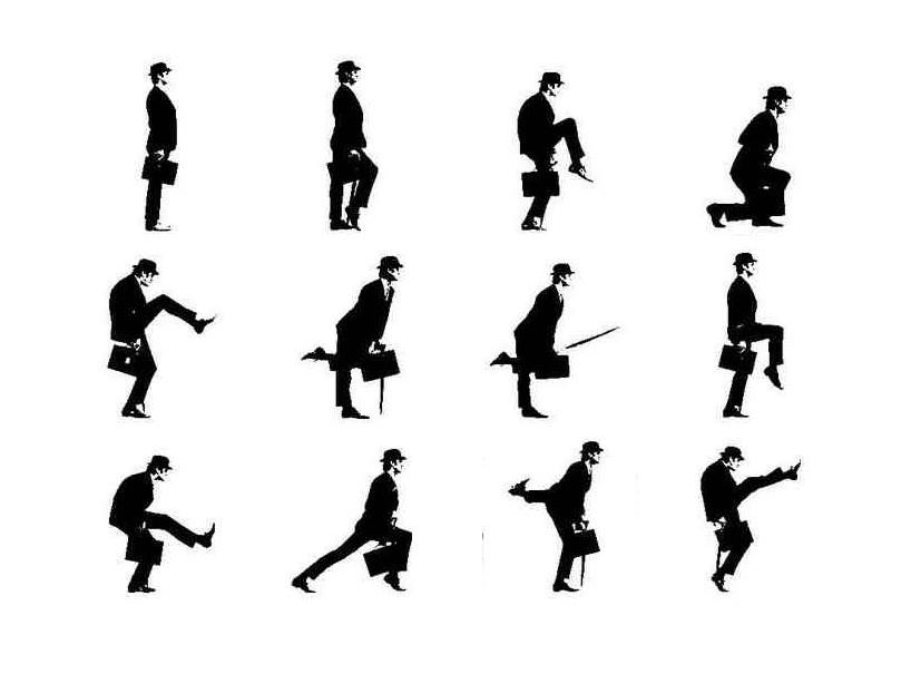 Monty Python's Silly Walk Step by Step Tutorial