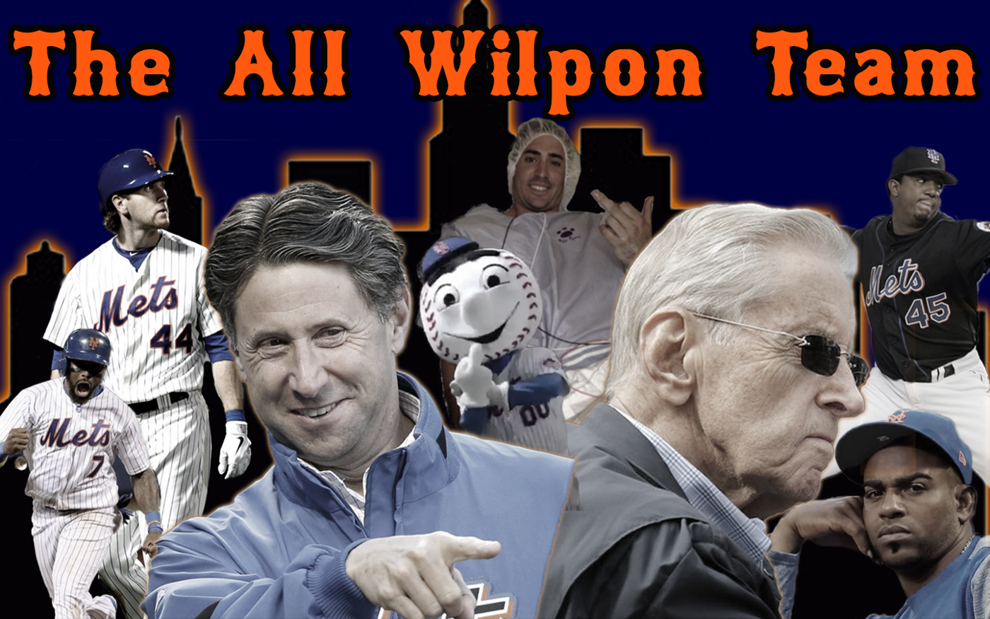 The All-Wilpon Team graphic, featuring players from across the Wilpon era