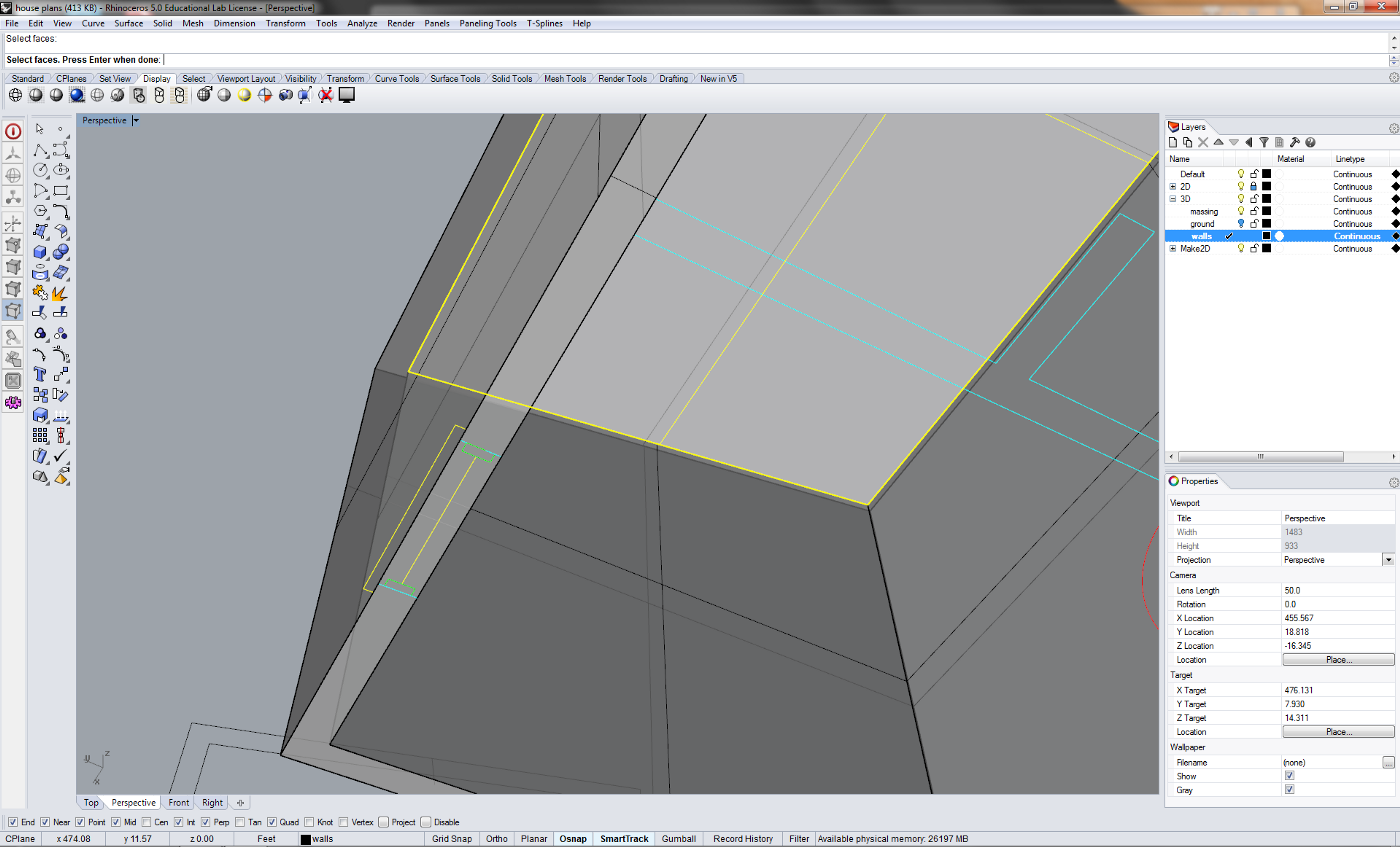 Extract Section From Clipping Plane Rhino