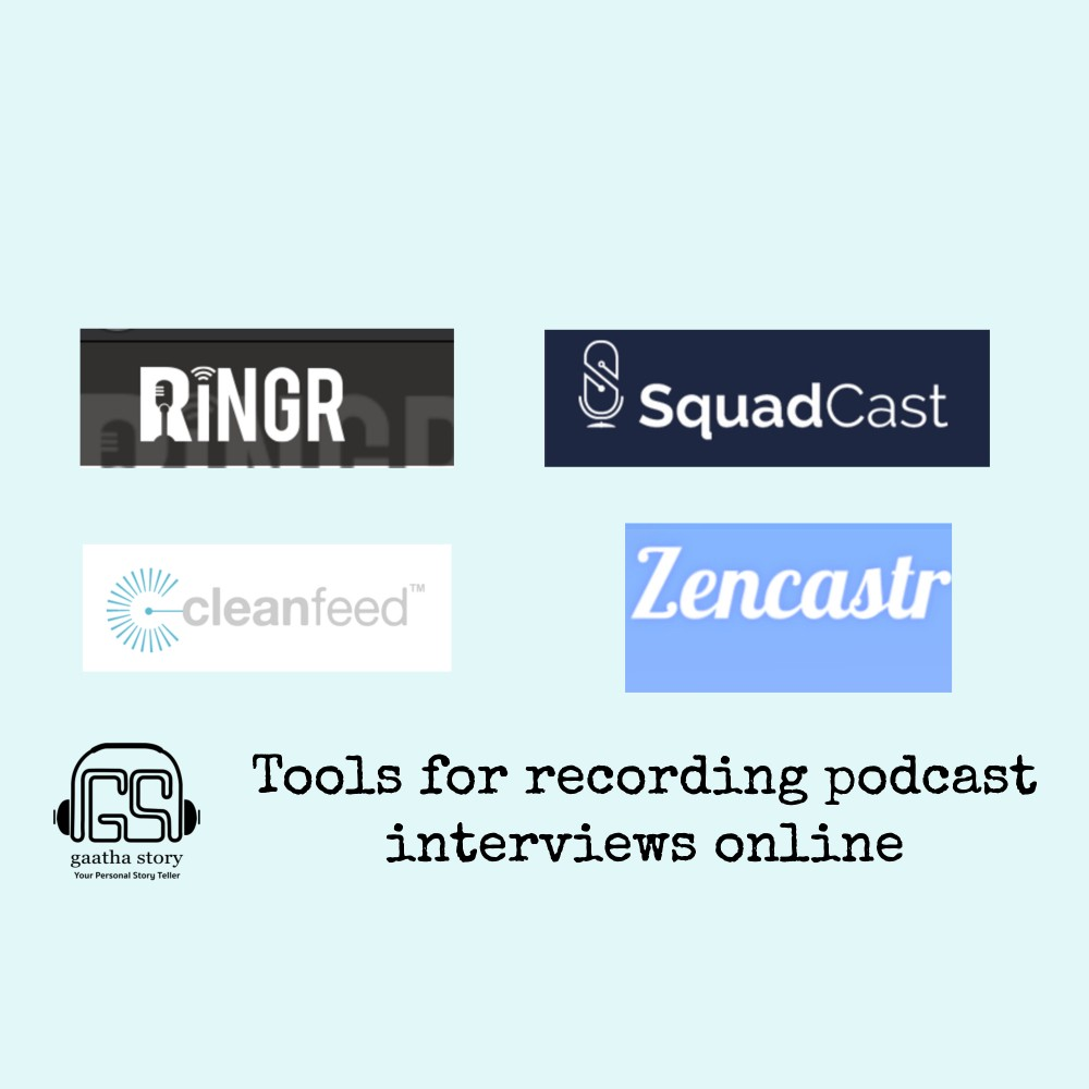 Image showing Zencastr. CleanFeed, Squadcast and Ringr in post on How to Record Podcasts online, written by Amar Vyas
