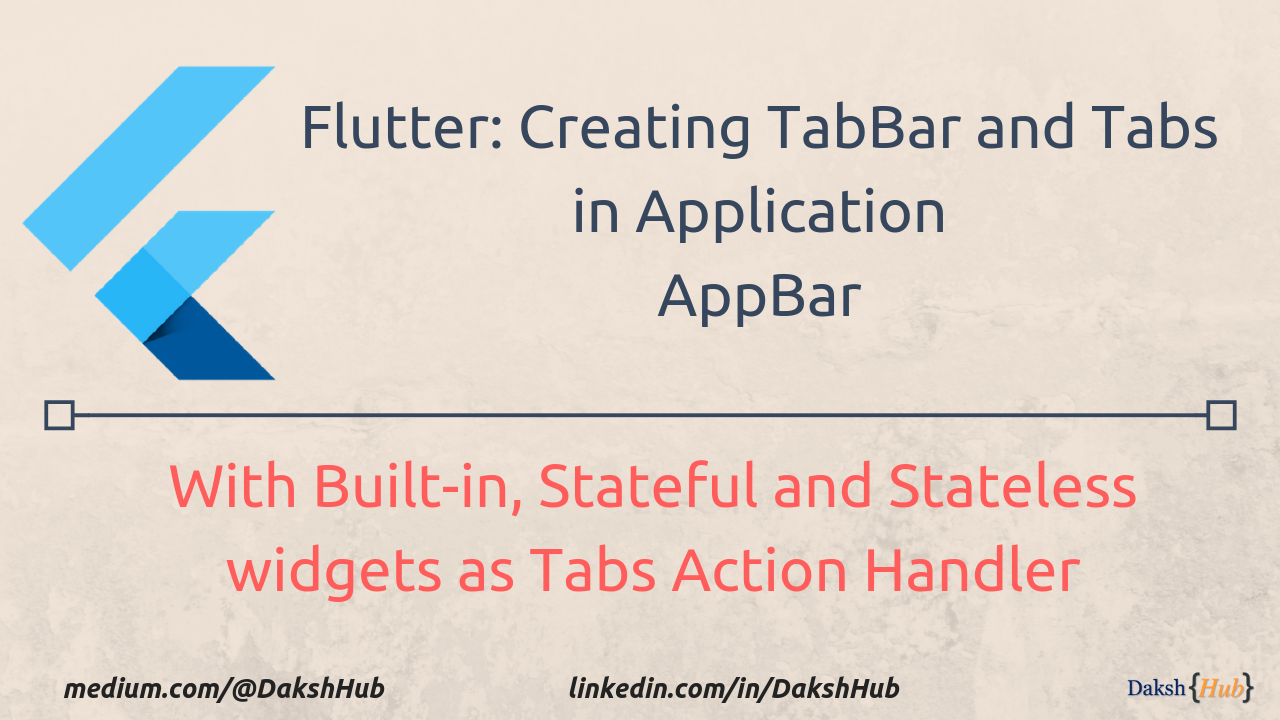 Flutter: Creating Tabs in AppBar and associating it with Stateless