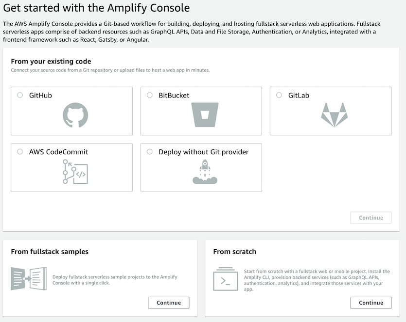 Amplify source selection
