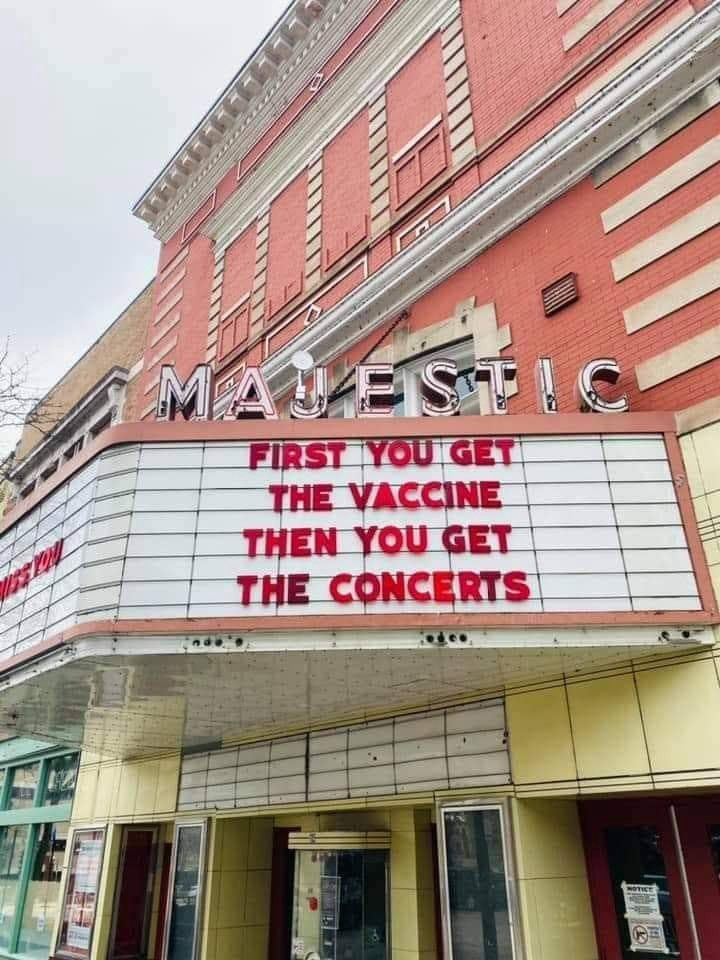 First you get the vaccine then you get the concerts