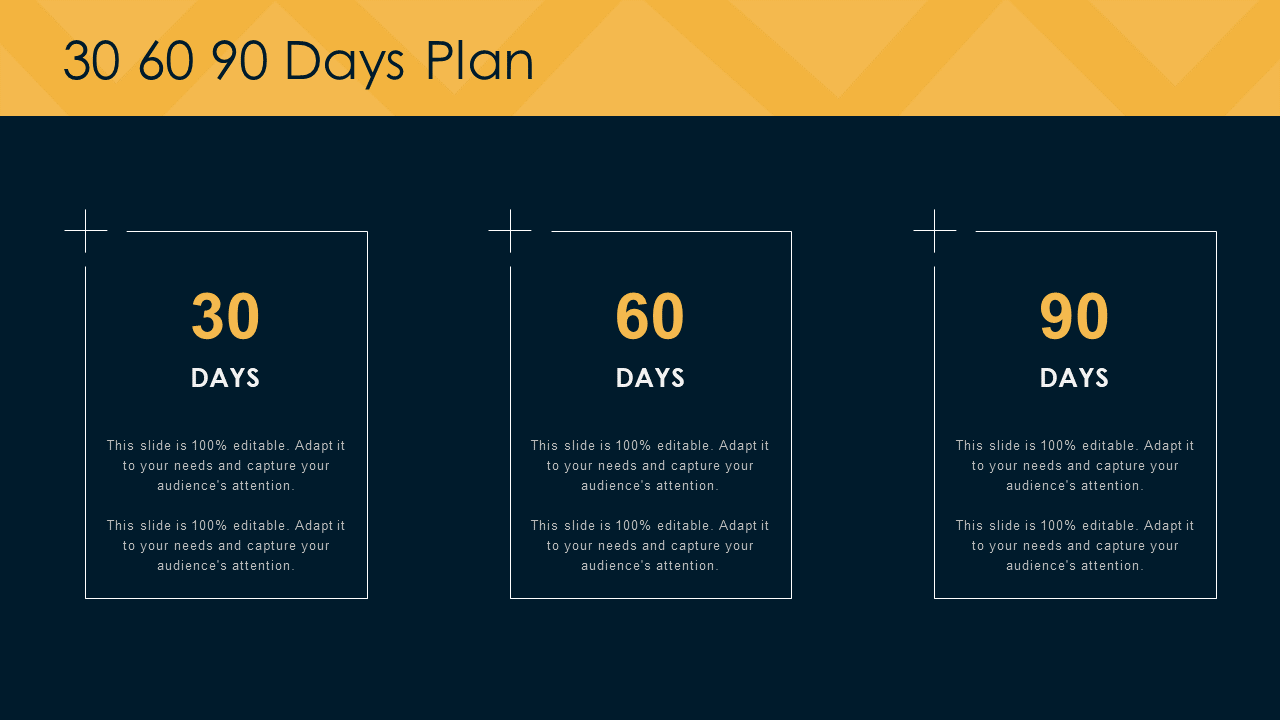 30 60 90 Day PowerPoint Visual