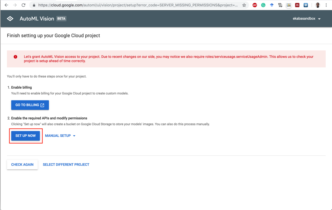 Setting Up Google Cloud Storage Google Cloud Storage Console