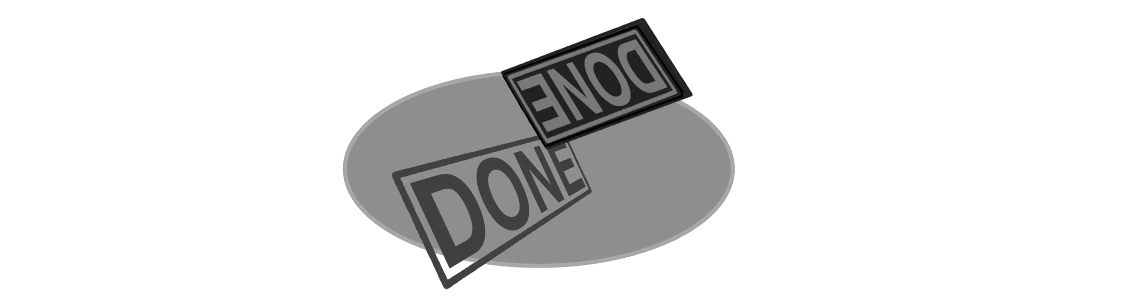 The DONE Stamp