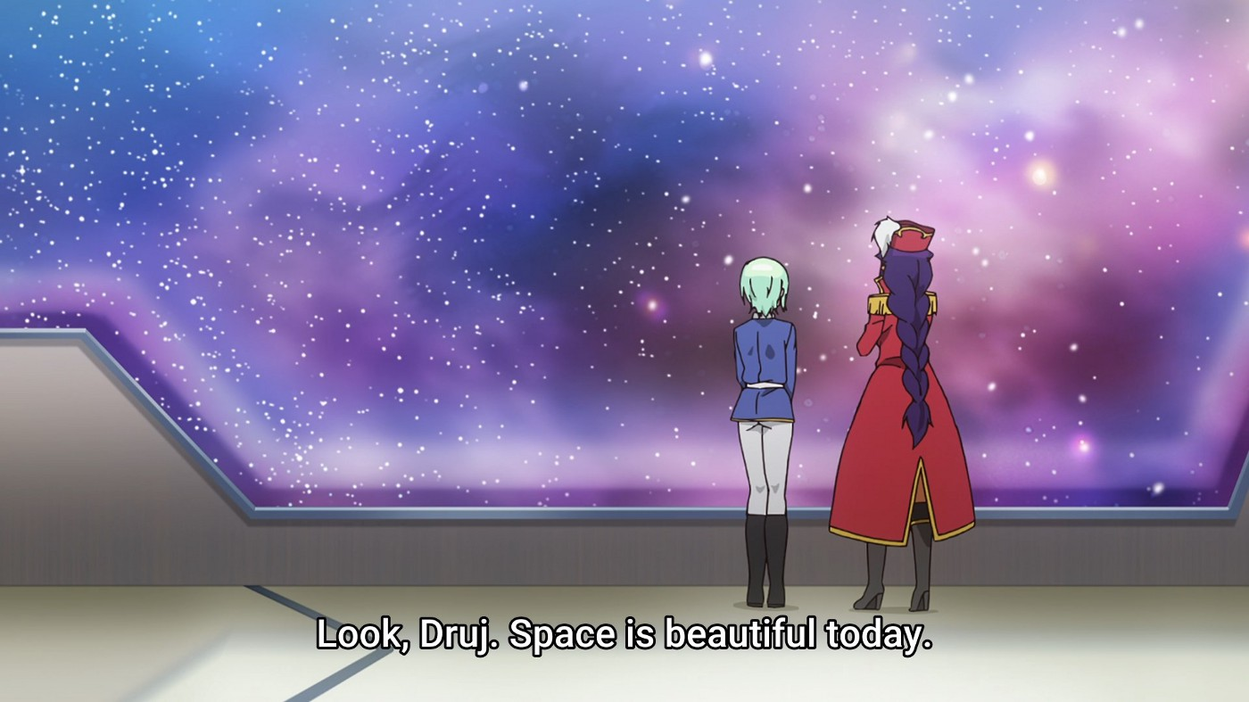"""Episode 3 animation of a """"Jahy in space"""" omake (extra scene) from the books"""