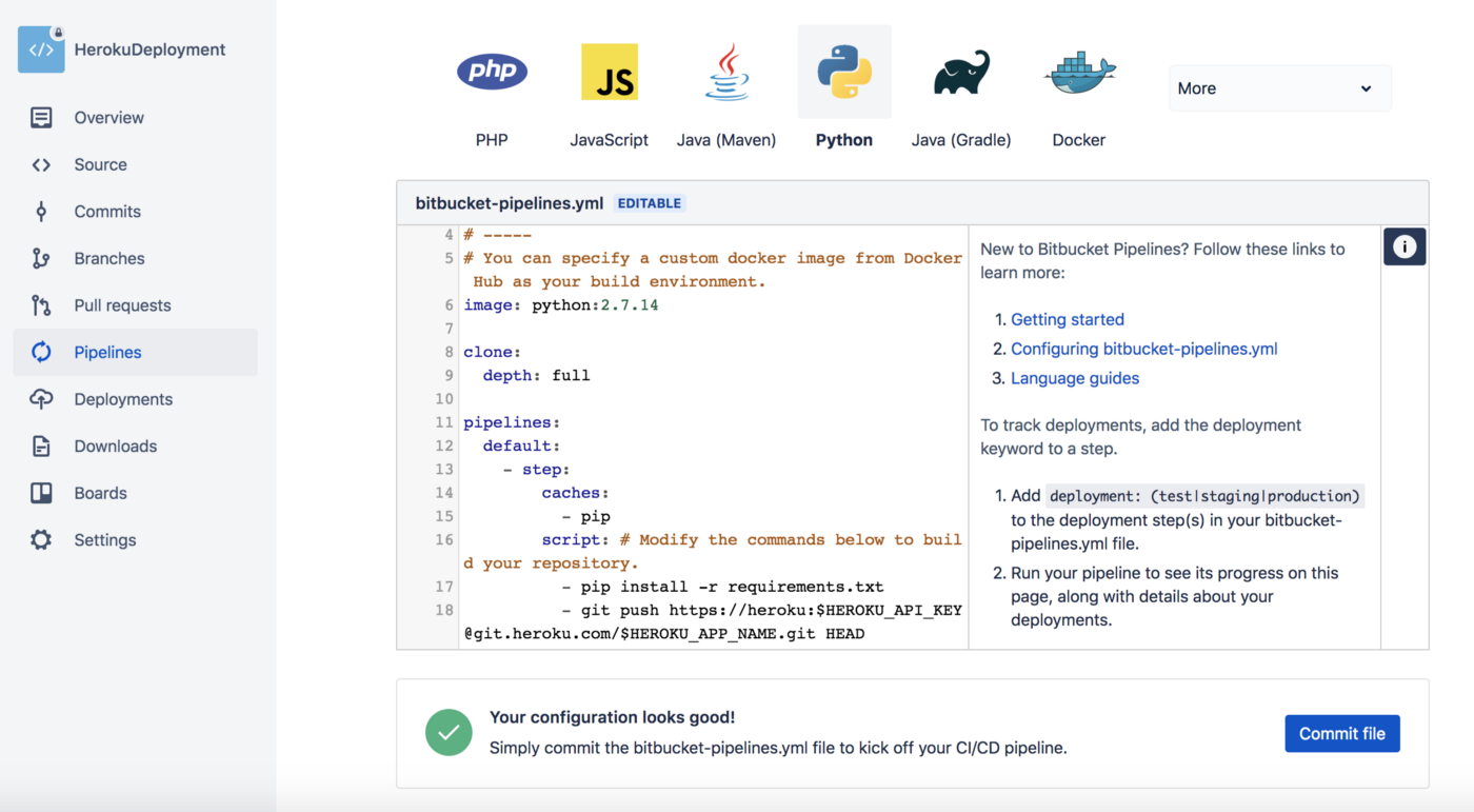 Download File From Bitbucket Using Python