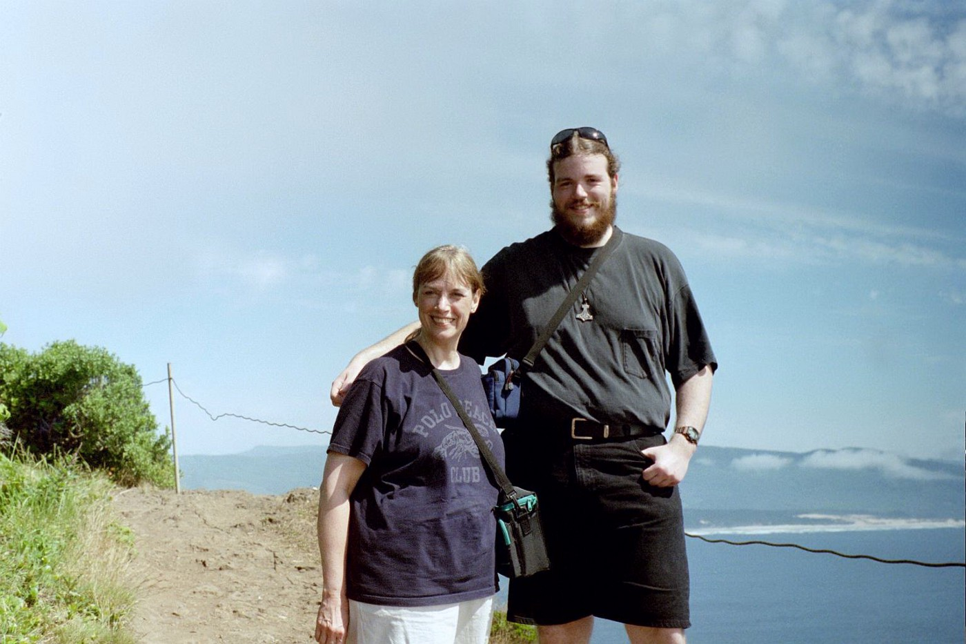Mom and I at the Oregon coast in August 2002.