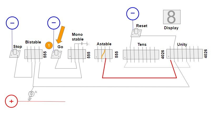 Reaction Timer Game Circuit Diagram Using Ic 555 And Ic 4026
