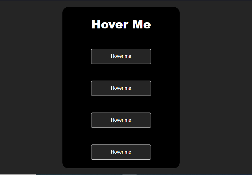 Hover effects.