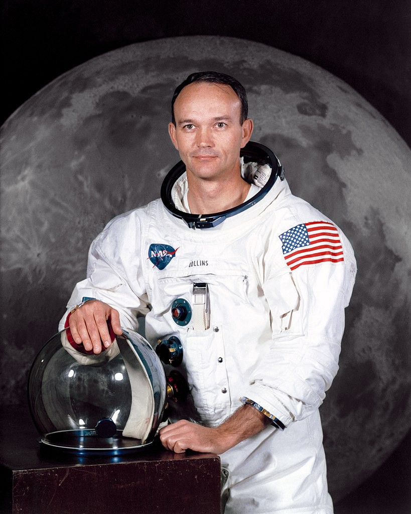Astronaut Michael Collins. He piloted the Apollo 11's Command Module 'Columbia'