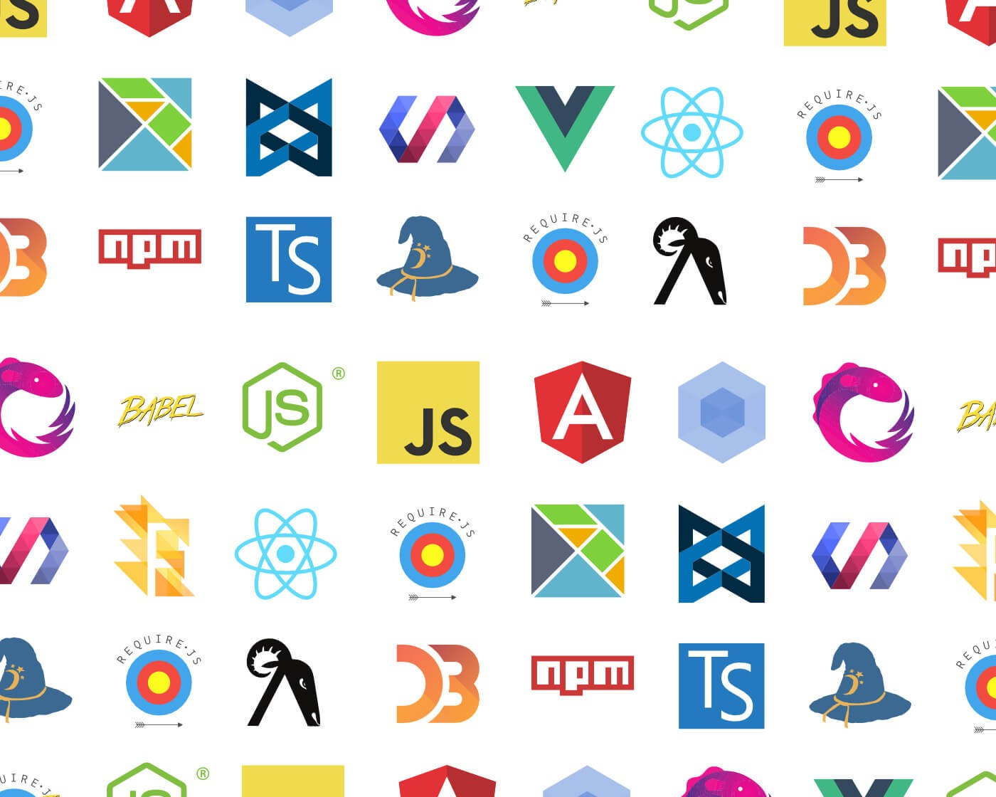 Collection of javaScript framework icons