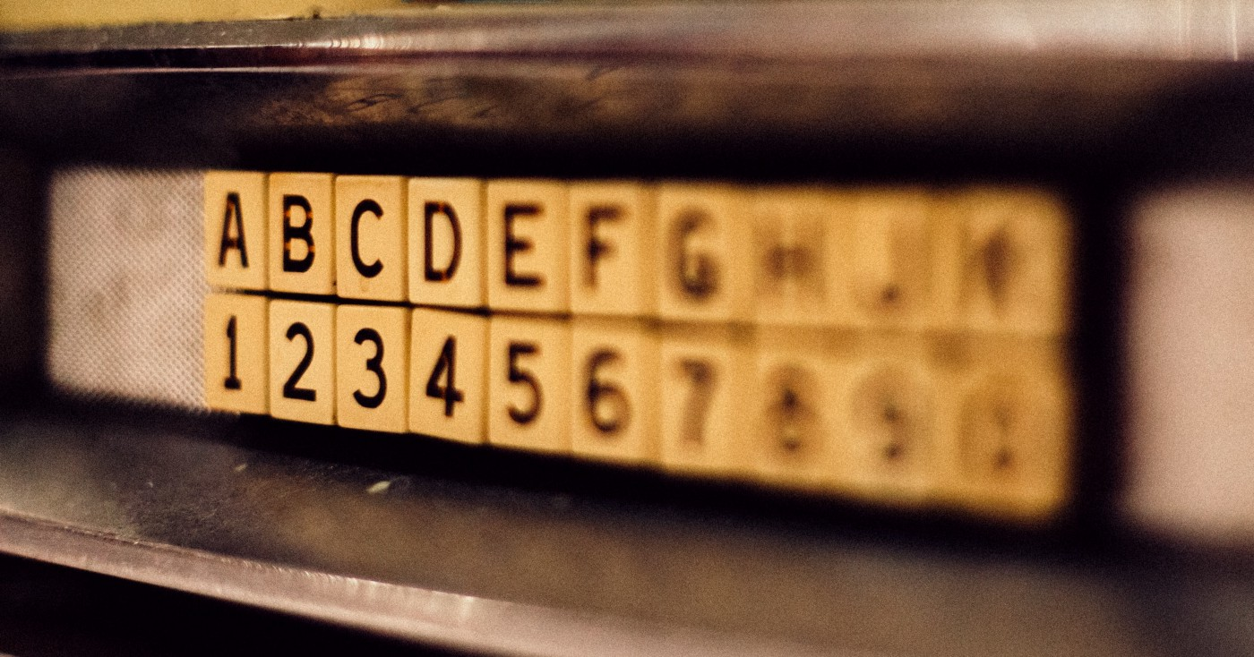 Image of letters and numbers