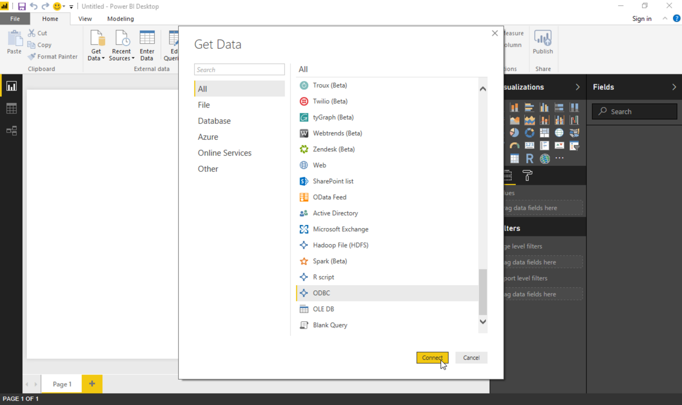 Connecting Microsoft Power BI to Amazon Athena using ODBC