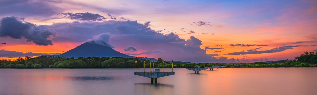 sunset view on the natuna islands in Indonesia