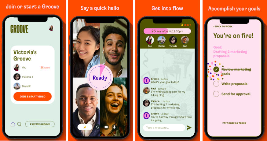 Groove's app interface