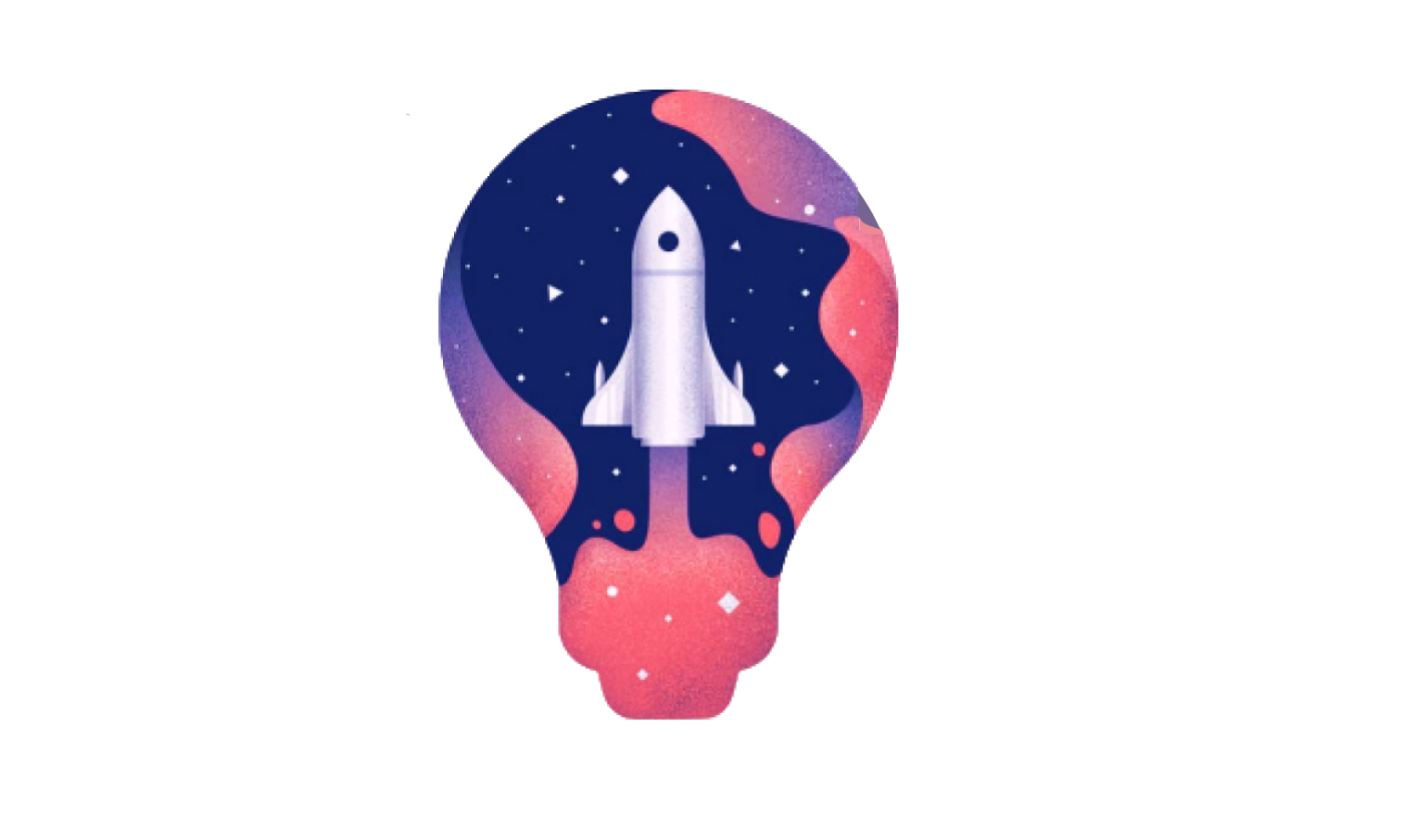 Illustration depicting the idea of a product launch