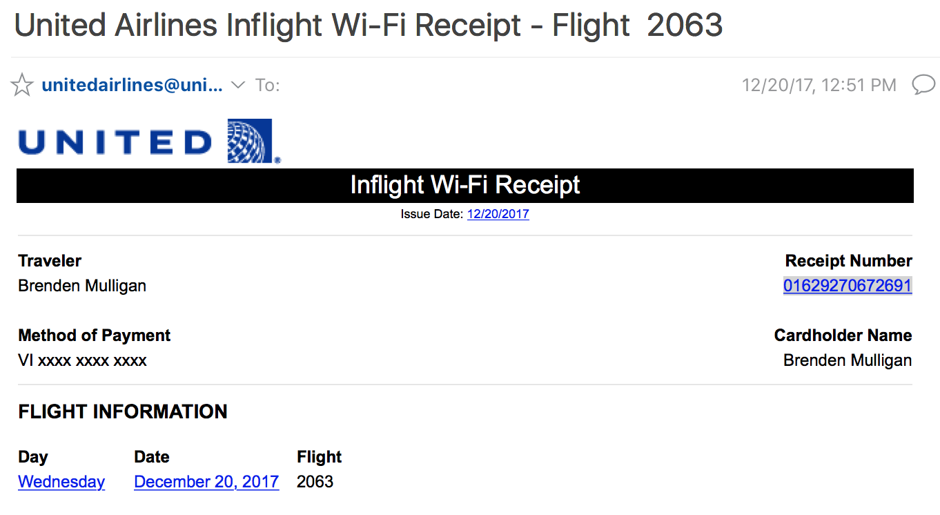 How to request a refund when your United WiFi is unusable