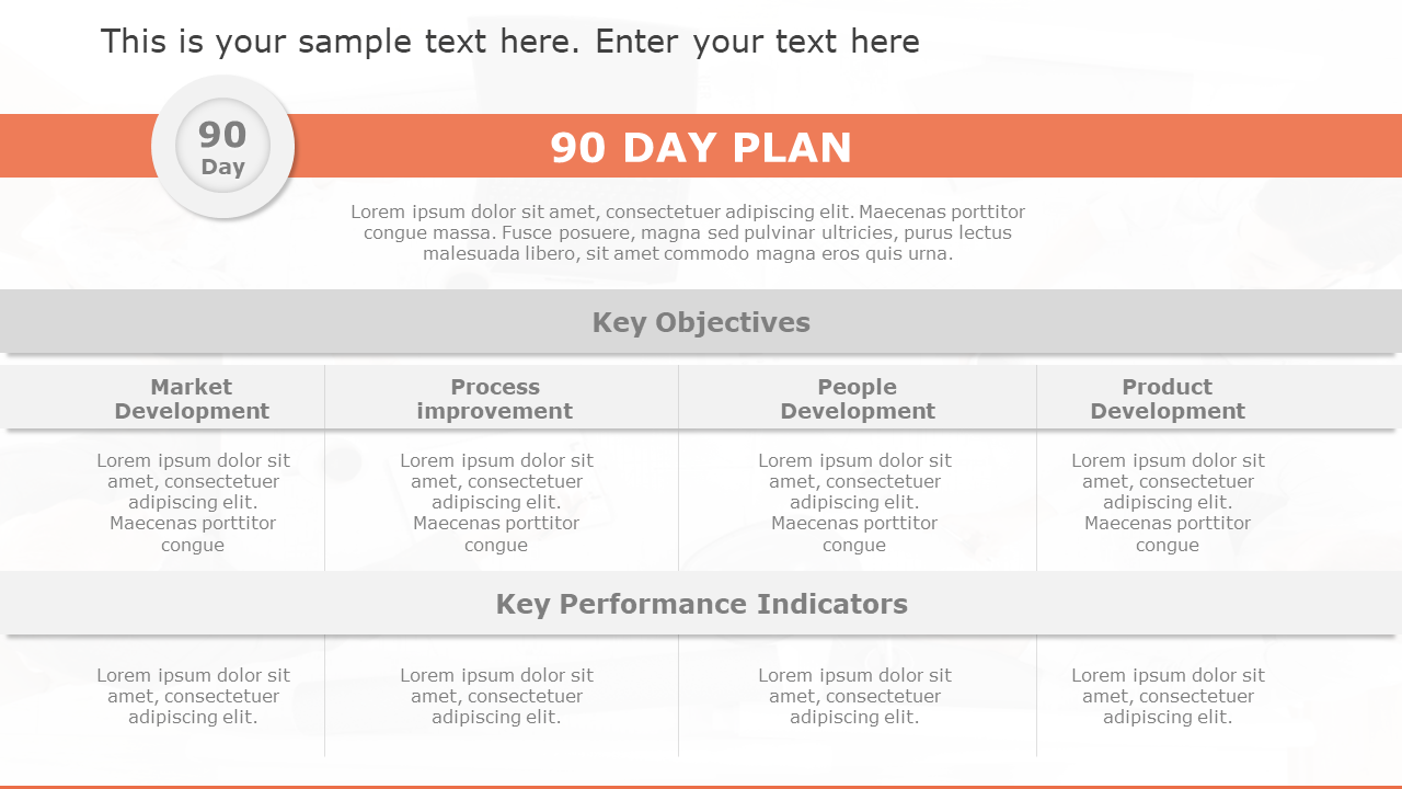 30–60–90 Day Plan Template