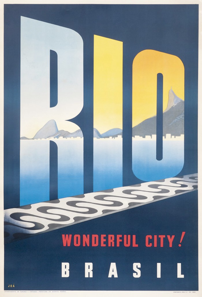 Travel advertisement poster for Rio